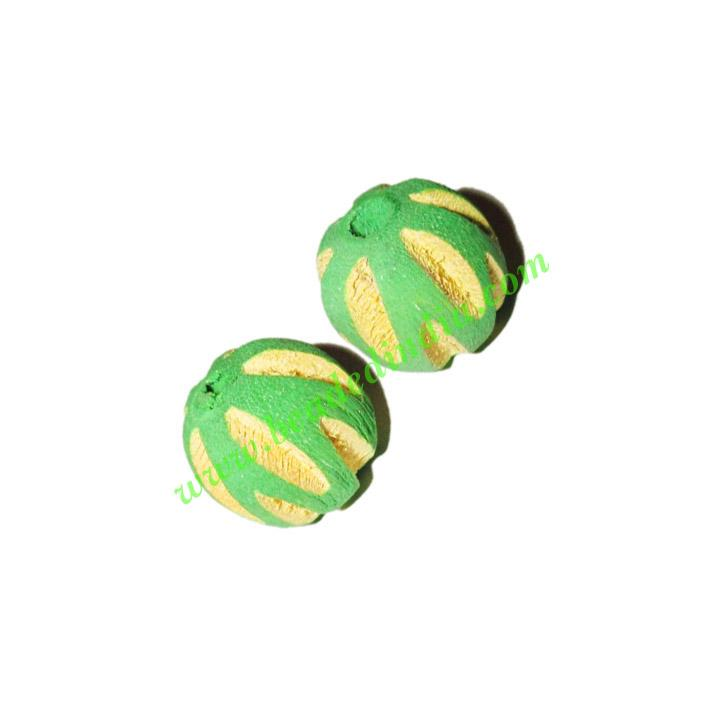 Wooden Carved Beads, size 18mm, weight approx 2.22 grams - Wooden Carved Beads, size 18mm, weight approx 2.22 grams