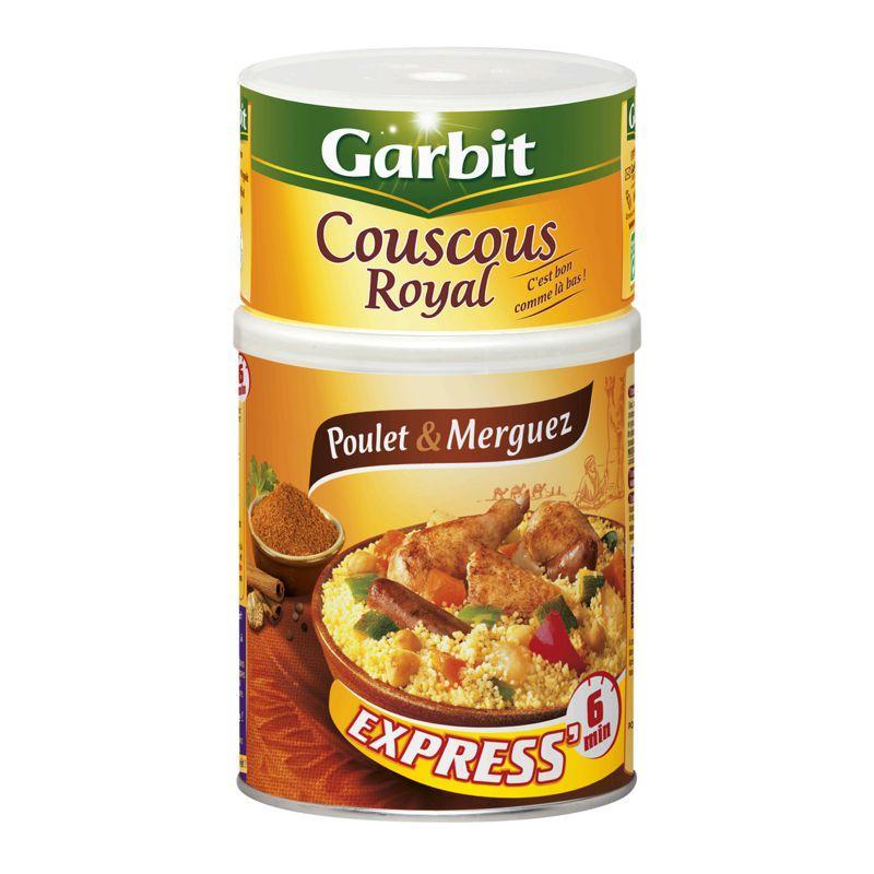 Couscous royal poulet et merguez 980g - GARBIT - Couscous royal poulet et merguez 980g - GARBIT