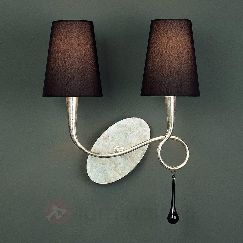 Applique à 2 lampes Paola avec abat-jour en tissu - Appliques en tissu