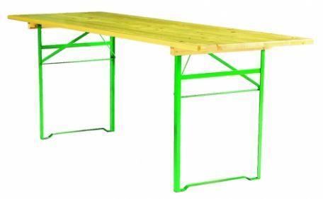 Table Pliante Bois Cornière 2.20 X 70 Cm - Tables Et Bancs Brasserie