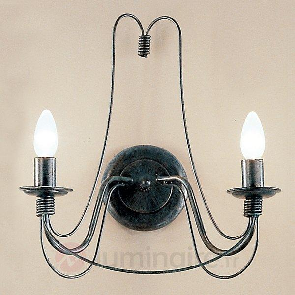 Applique CLARA rustique à 2 lampes - Appliques classiques, antiques