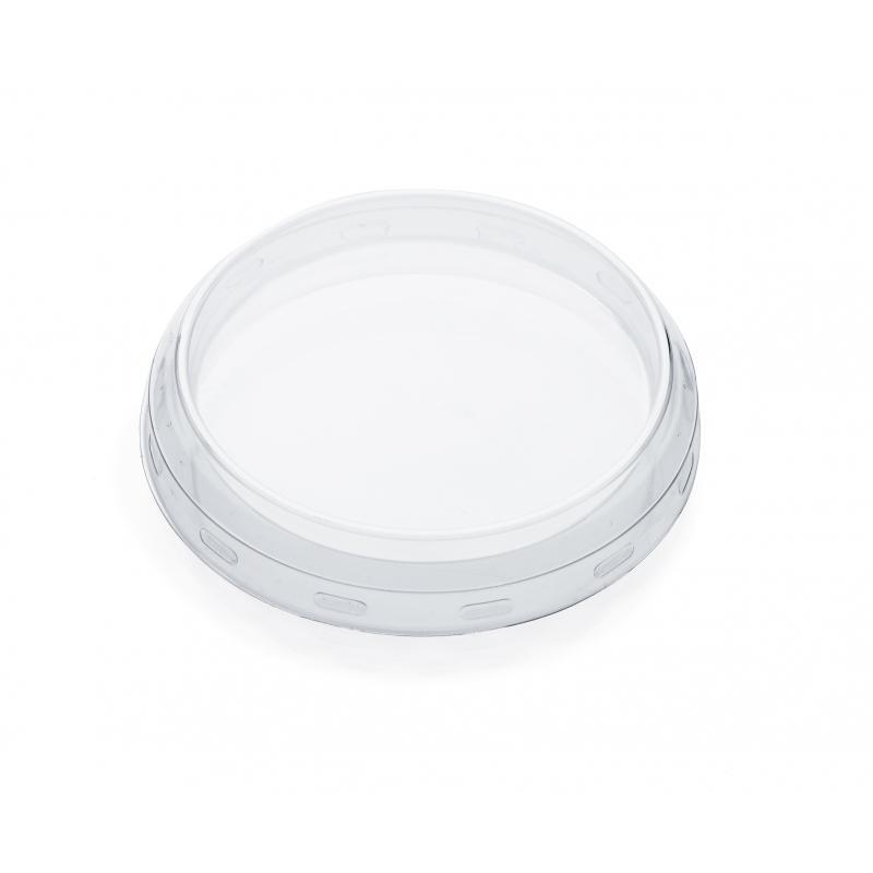 WECK® Accessoire - 24 Mutsen doorsnede 80 mm in transparant plastic voor WECK-fles