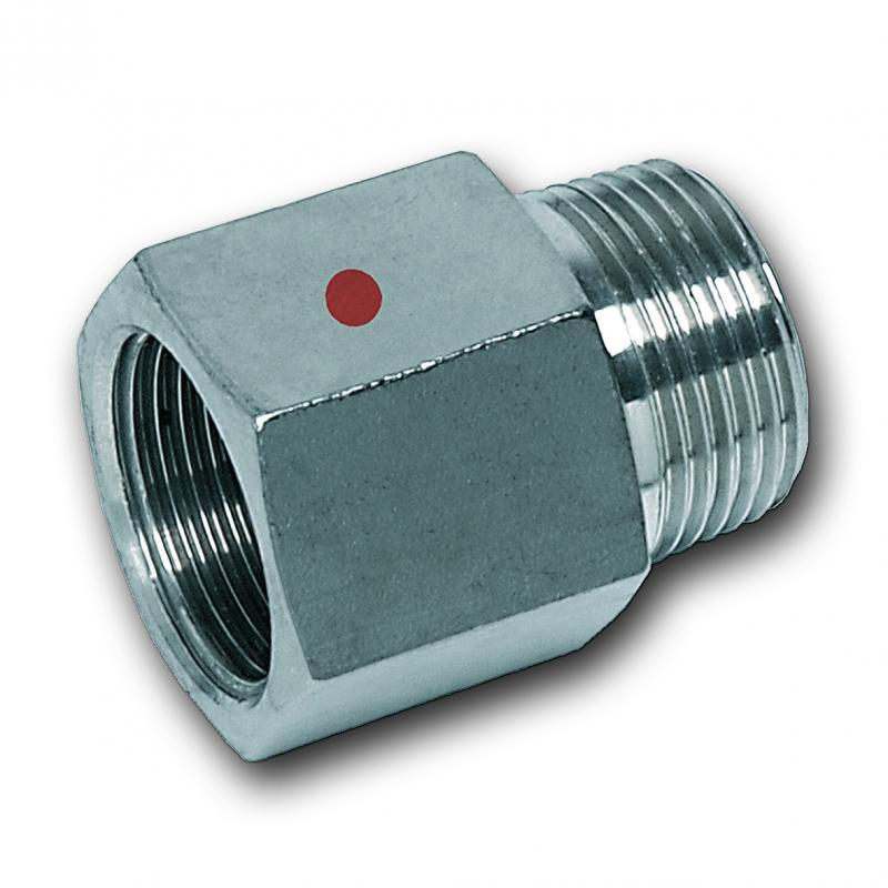 Threaded hexagon adaptor, female/male thread - Stainless steel press fitting system NiroTherm®, AISI 304, EPDM