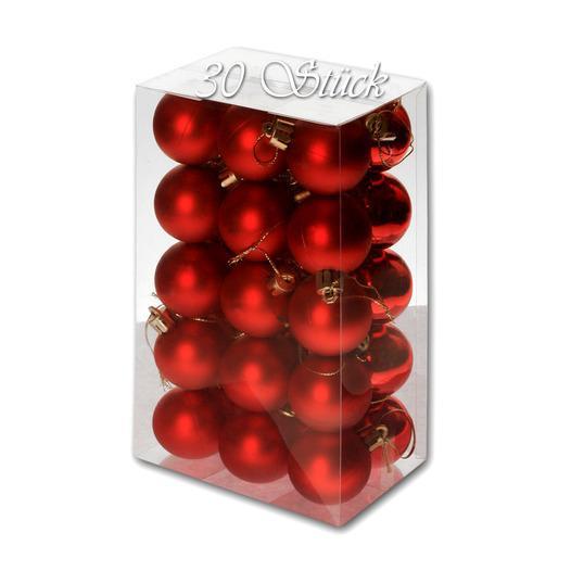 Weihnachtskugel 30 Stück 4cm Durchmesser Farbe: Rot - null