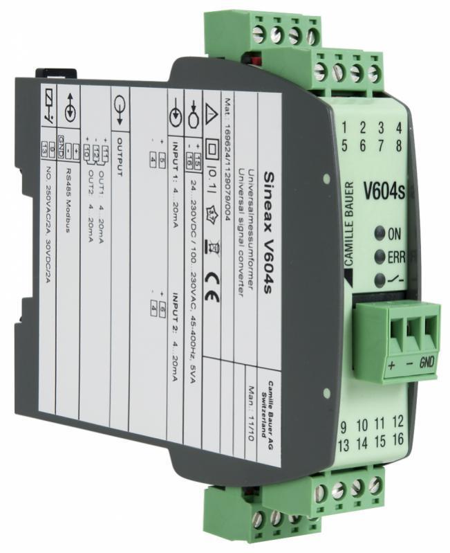 SINEAX V604s - Programmierbarer multifunktionaler Messumformer