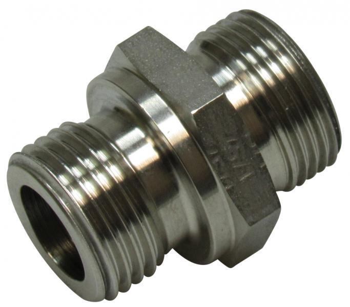 "UD 1/2""-M22X1,5 adapter metric/bsp sta - Stainless steel"