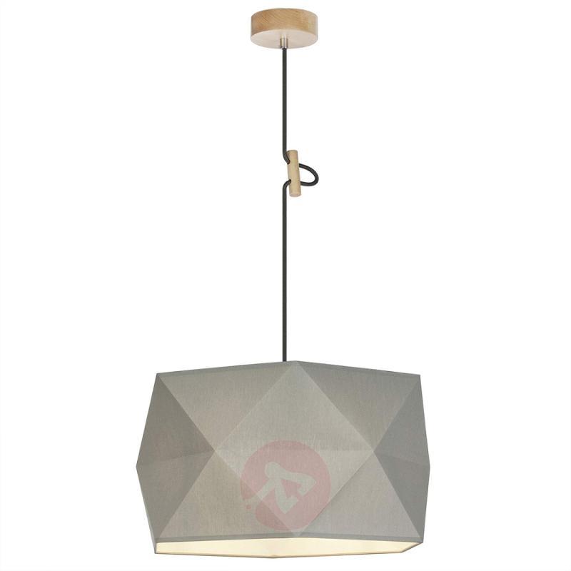 Grey, fabric hanging light Polygon - indoor-lighting