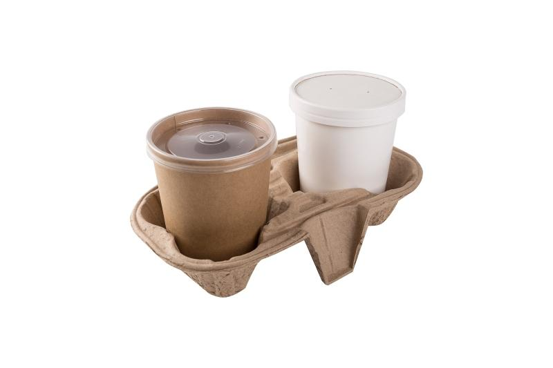 Soup container carrier - Carrier for soup, porridge, and ice-cream containers