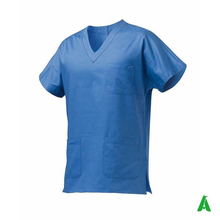 Casacca unisex medico infermiere personalizzabile - Casacca 100% cotone unisex personalizzabile per medici e infermieri