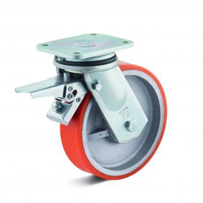 Polyurethane castors for heavy loads up to 2,100 kg