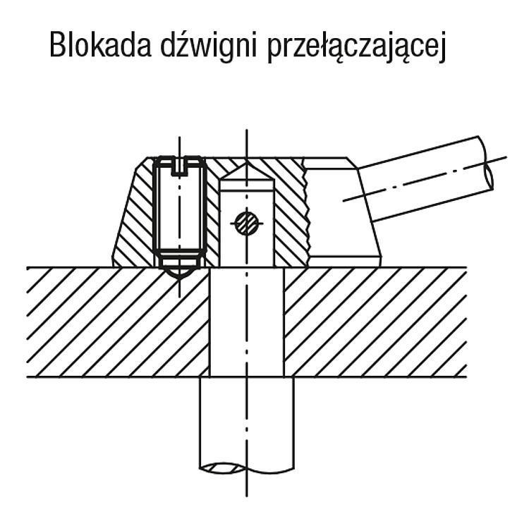Zatrzaski kulkowe z nacięciem do wkrętaka, stal - K0309