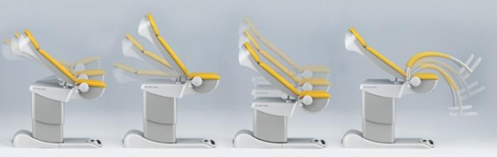 Examination and treatment chair for gynaecology - Medical Equipment - medi-matic ® 115
