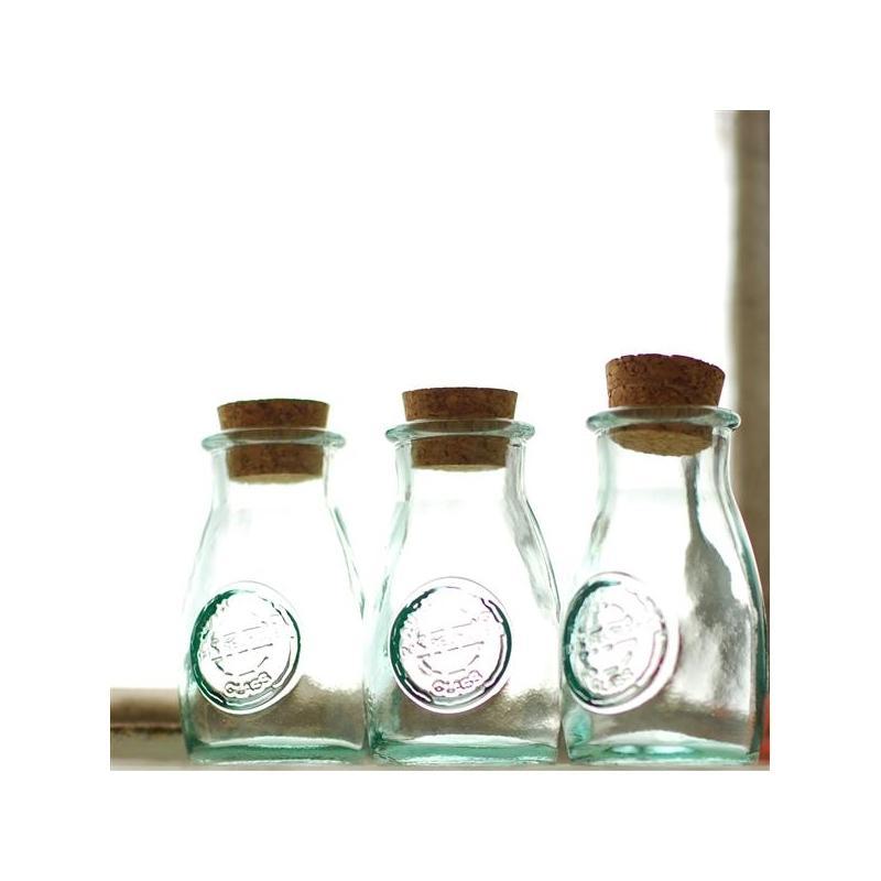 Lot de 2 pots à épices ou sel et poivre, en verre recyclé 100 ml - Pots et bocaux Ronds