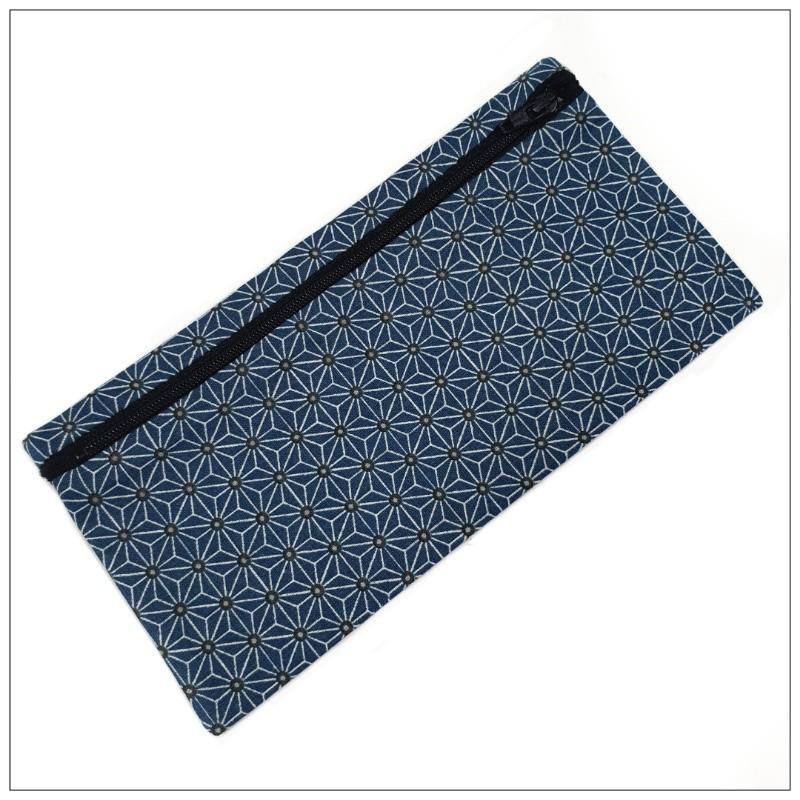 Pochette Pour Masque Géométrique Bleu - null