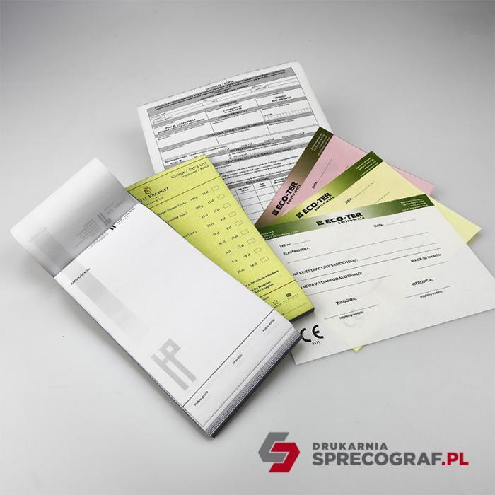 Afdrukken en zelfkopiërende blokken  - afdrukken van kettingformulieren, NCR-formulieren, medische formulieren