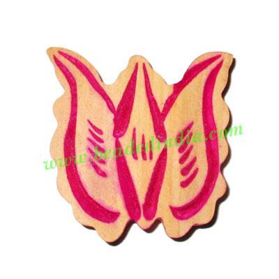 Handmade wooden fancy pendants, size : 38x38x5mm - Handmade wooden fancy pendants, size : 38x38x5mm