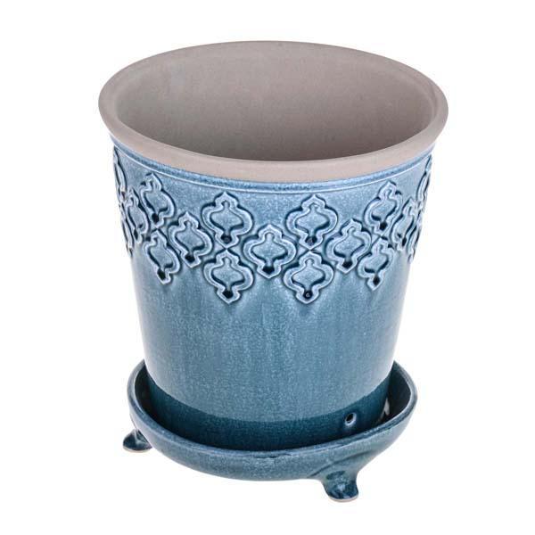 vaso in ceramica - Vaso in ceramica con decoro