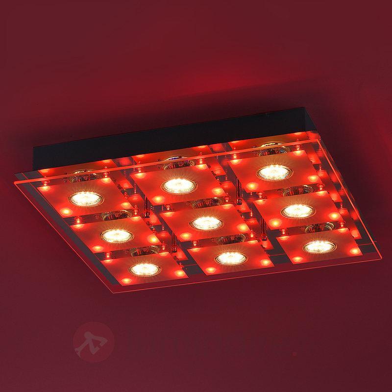 Plafonnier LED Stefan tape-à-l'œil, 44 x 44 cm - Plafonniers LED