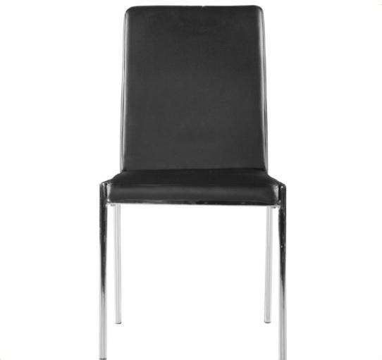Silla tapizada cromada Aurora - silla cromada tapizada PU