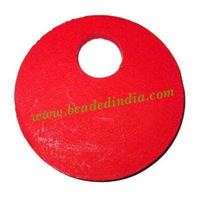 Handmade wooden fancy pendants, size : 62x4mm - Handmade wooden fancy pendants, size : 62x4mm