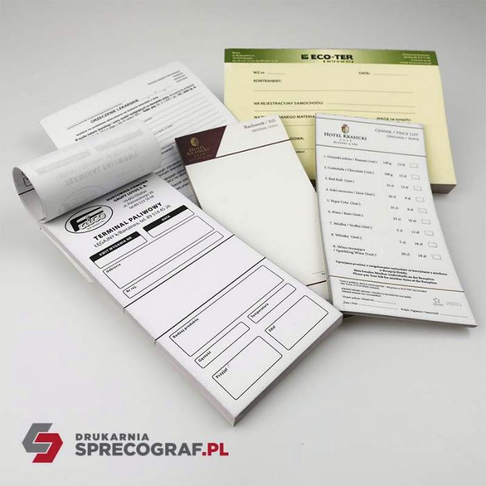Printouts and self-copying blocks - continuous forms printing, NCR forms, medical forms