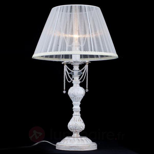 Lampe à poser Lolita avec abat-jour en organza - Lampes à poser en tissu