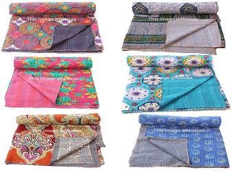 wholesale indian vintage cotton gaudari quilt bedspread