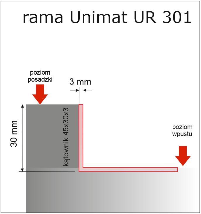 Rama systemowa aluminiowa Unimat UR 301 - Ramy systemowe do wycieraczek