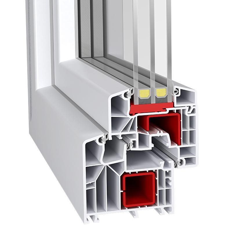 PVC Windows |  Id 8000-85 - Id 8000 85 PVC Turn &Tilt Window