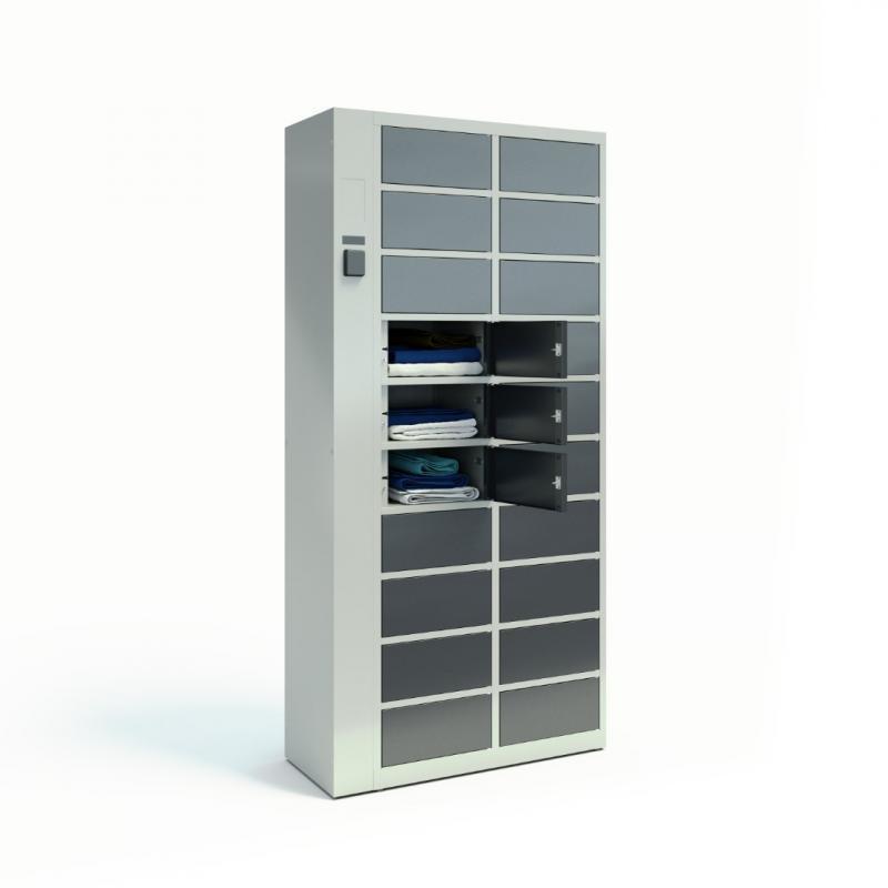 Szafy TECHCODE na odzież czystą - Zdalnie sterowane szafki RFID z kontrolą dostępu
