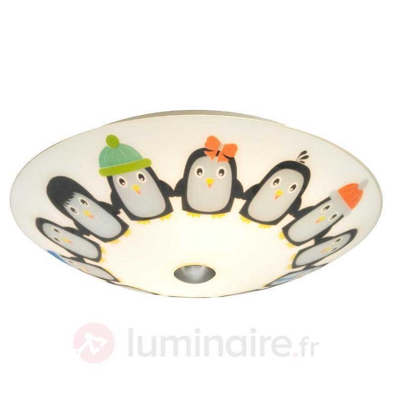 Plafonnier LED Tipsy motif pingouins - Chambre d'enfant