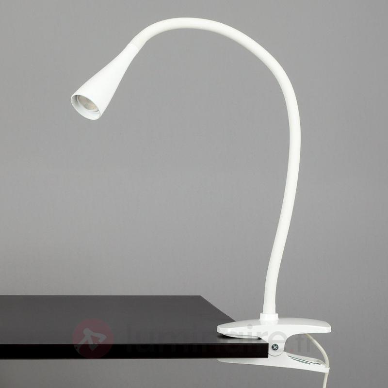 Lampe à pince LED Baris fine blanche - Lampes à pince