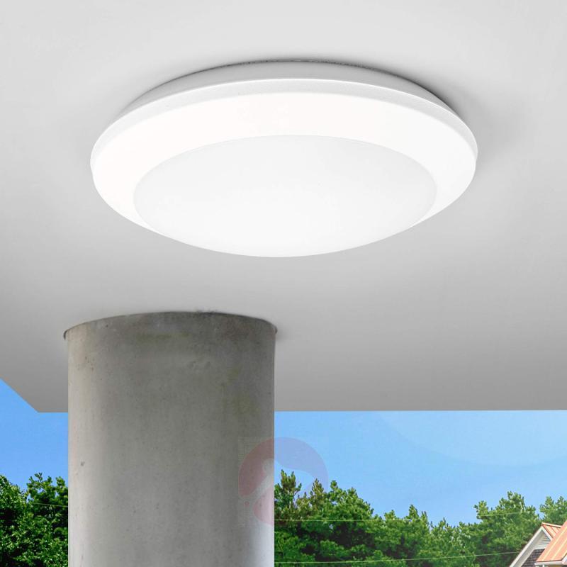 Sensor ceiling light Umberta 2xE27 white - indoor-lighting