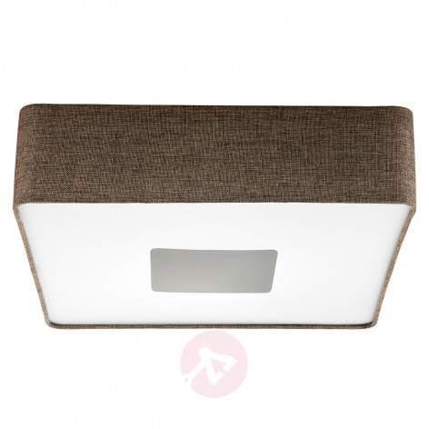 Square fabric LED ceiling light Tacuba 35 cm - indoor-lighting