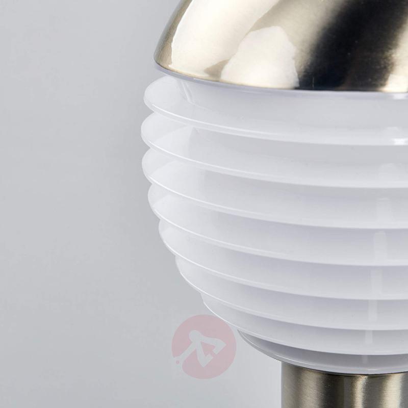 Stainless steel LED pillar lamp Ruben with sensor - outdoor-led-lights