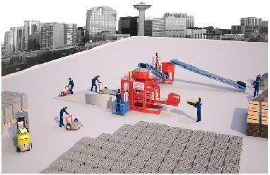 Полуавтоматическая Машина Для Шлакоблоков - Полуавтоматическая Машина Prs 800 Мини Завод  Для Производства Стенового Камня