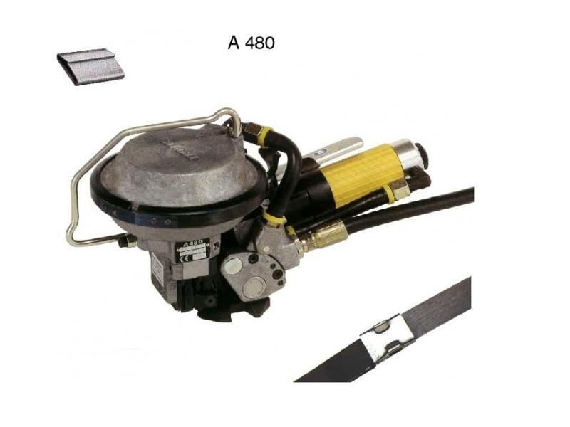 Appareil feuillard acier pneumatique A 480 - Cerclage Acier