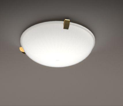 Round glass ceiling lamp - Model 2004
