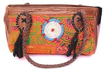Indian Banjara leather Duffel Bag -