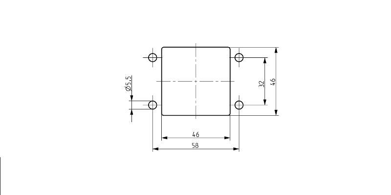 KDS-SR 1-4 BK | Schraubrahmen - null