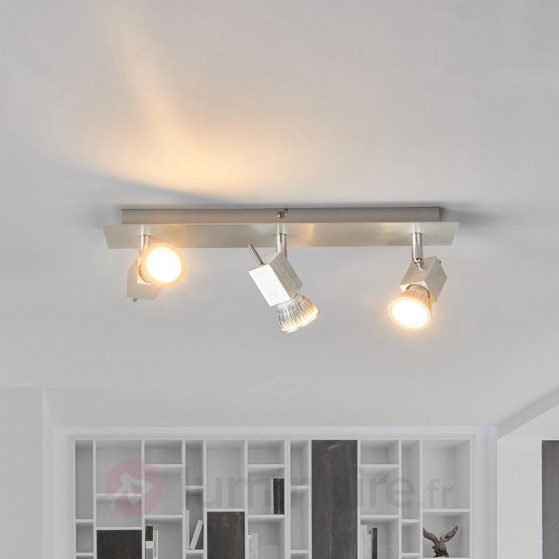 Plafonnier en aluminium Sevina, à trois lampes - Spots et projecteurs LED