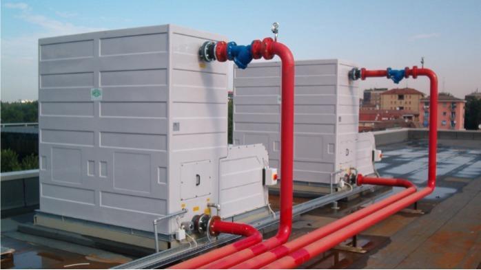 MCT Torre evaporativa a circuito aperto - con ventilatori centrifughi