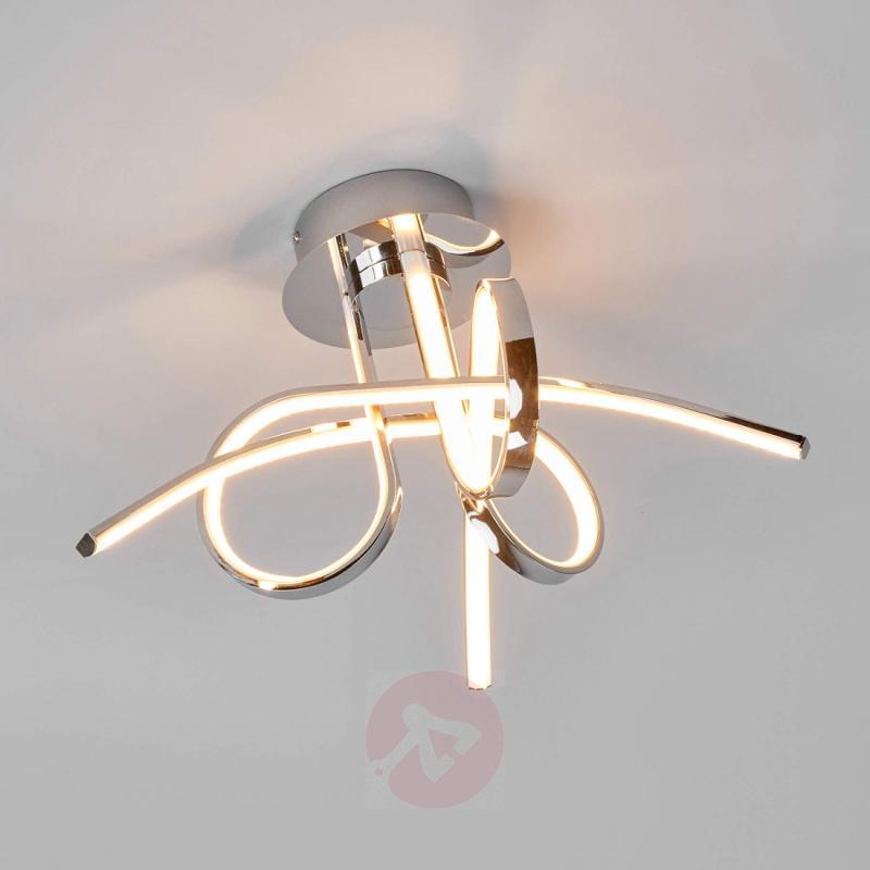 Nayla LED ceiling light, chrome - indoor-lighting