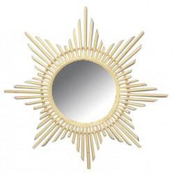 Miroir en rotin étoile - Déco