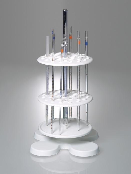 Soporte para pipetas - Equipo de laboratorio, para hasta 40 pipetas, concepto innovador de imán