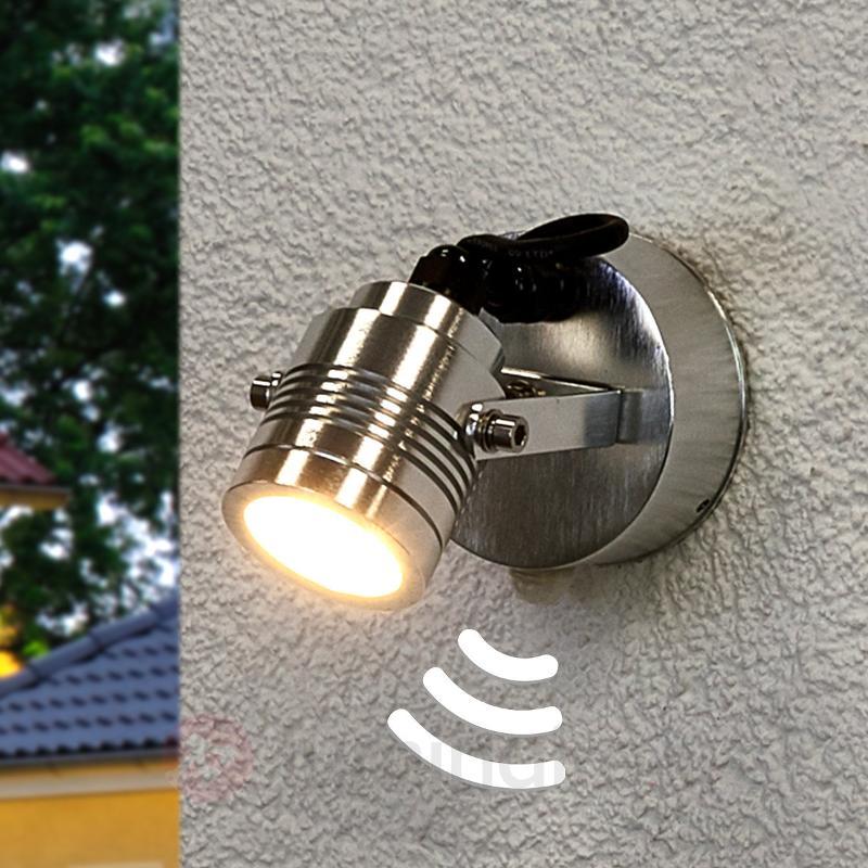 Malo - spot d'extérieur LED, aluminium brossé - Appliques d'extérieur avec détecteur