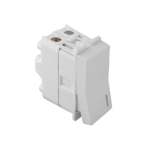 1M Single pole switch diffuser - 16AX/250V, white, connection with screws