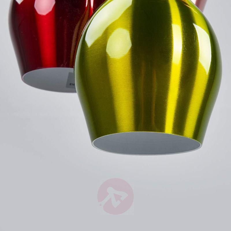 Vibrant multi-coloured hanging light, 5-light - Pendant Lighting