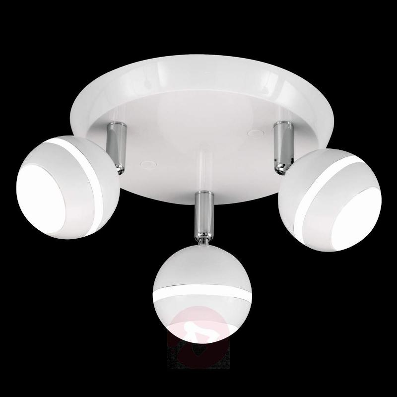 Round LED ceiling light Groove in white - Ceiling Lights
