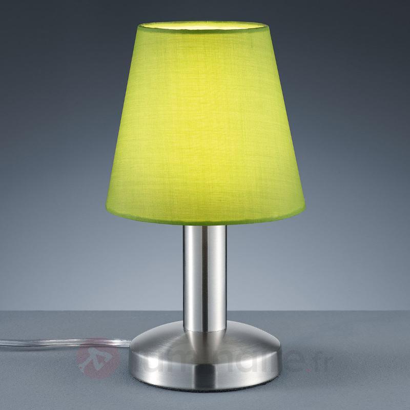 Lampe à poser verte Merete, interrupteur tactile - Lampes de chevet